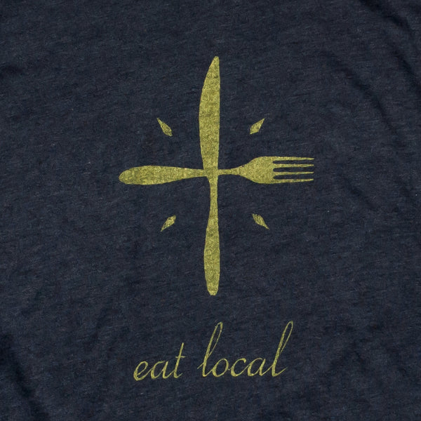 Eat Local Ladies Racerback Tank