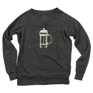 French Press Ladies Slouchy Pullover