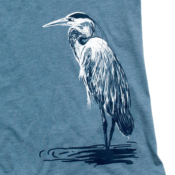 Great Blue Heron Ladies Tee