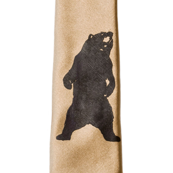 Grizzly Bear Skinny Tie - Bronze