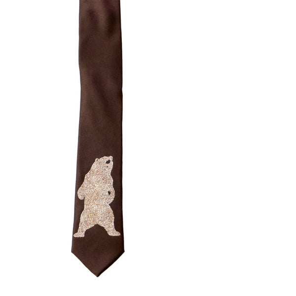 Grizzly Bear Skinny Tie - Sparkle