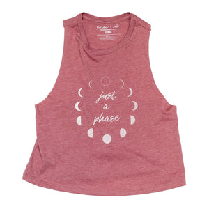 Just a Phase Ladies Crop Tank