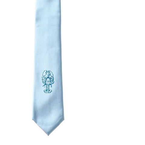 Lobster Slim Tie - Pale Blue