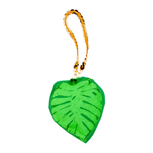 Monstera Leaf Plushie Ornament
