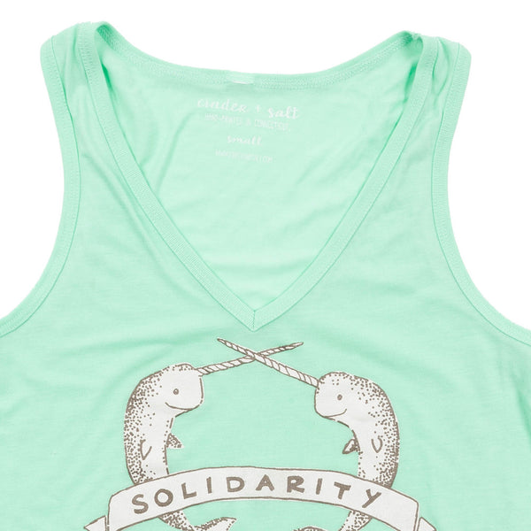 Narwhal Solidarity Ladies V-Neck Tank