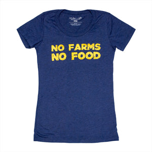 No Farms Ladies Scoop Tee