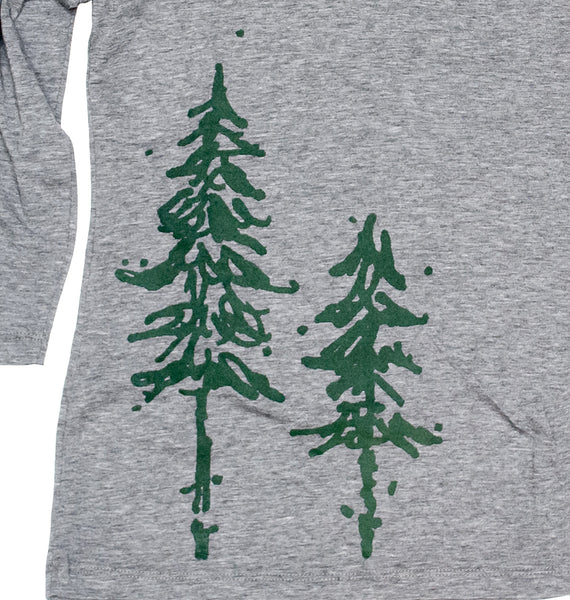 Pine Trees Ladies 3/4 Sleeve Tee