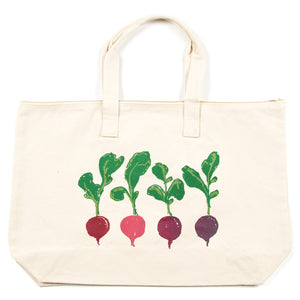 Radishes Jumbo Zip Tote Bag