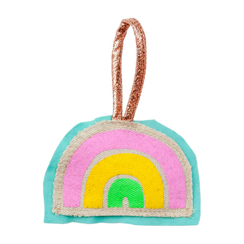Rainbow Plushie Ornament