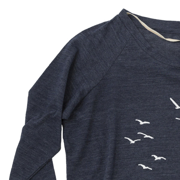 Seagulls Slouchy Pullover