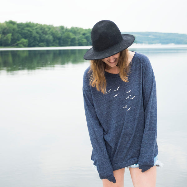 Seagulls Ladies Slouchy Pullover