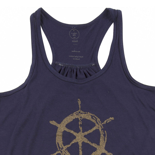 Ship's Wheel Ladies Flowy Tank