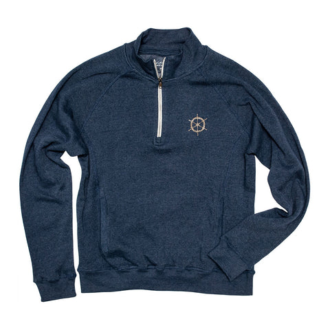 Ships Wheel Men's 1/4 Zip Sweatshirt