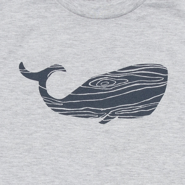 Wood Grain Whale Kids Tee