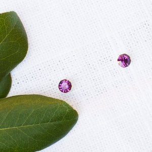 Purple Crystal Studs