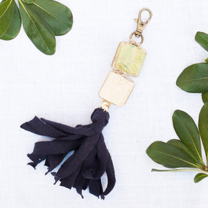 Ceramic Bead & Tassel Keychains - Mountain Hues