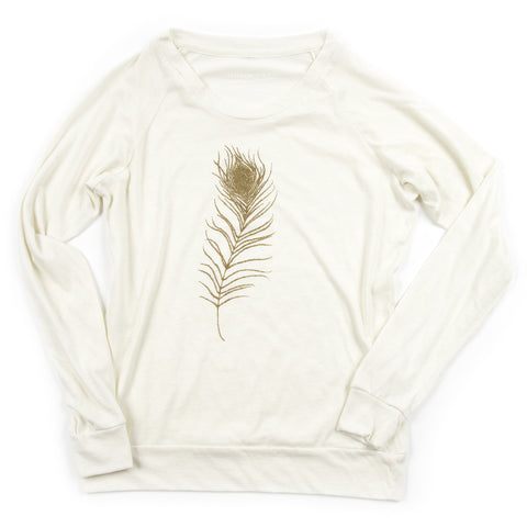 Feather Ladies Slouchy Pullover
