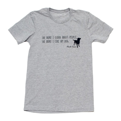Mark Twain 'Like My Dog' Tee