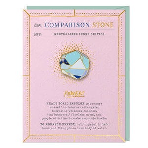 Comparison Stone Pin & Card