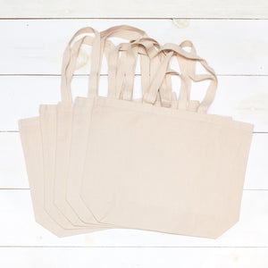Blank Canvas Totes - 5 Pack - Natural