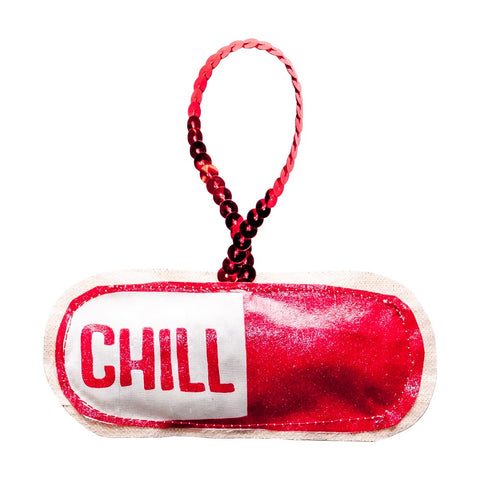 Chill Pill Plushie Ornament