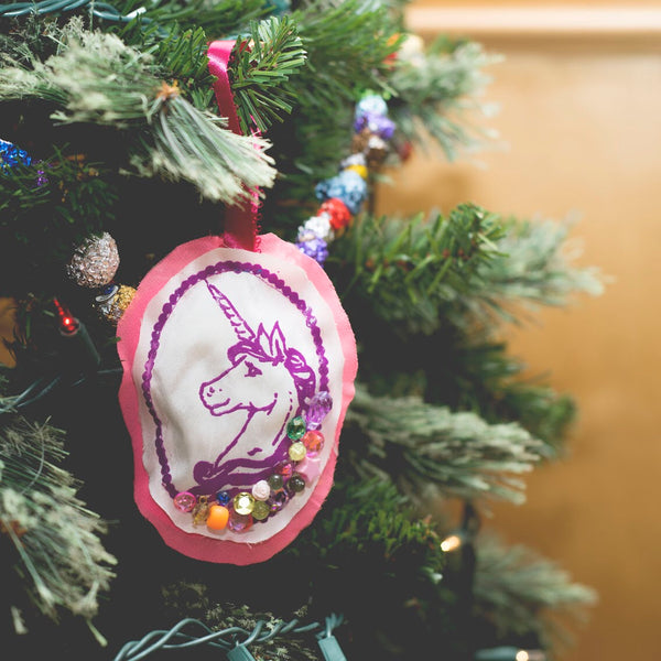 Unicorn Plushie Ornament