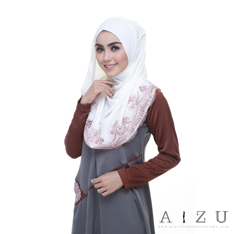 Helen Dress | HL-01 Asy Grey + Classic Brown