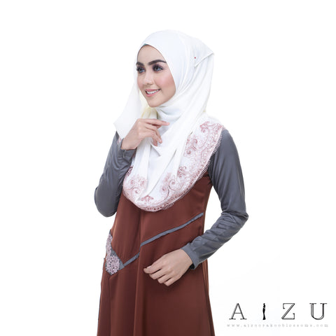 Helen Dress | HL-02  Classic Brown + Asy Grey
