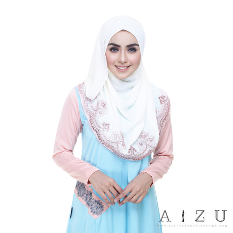 Helen Dress | HL-06 Sky blue + Pale Orange