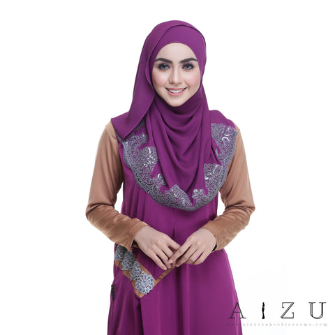 Helen Dress | HL-11 Mulberry purple + Pale Brown