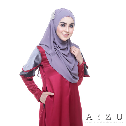 Leeyana Dress | LEE-03 Crimson Maroon