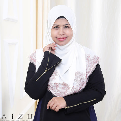Maryam Jubah 3.0 19 | Black + Navy Blue