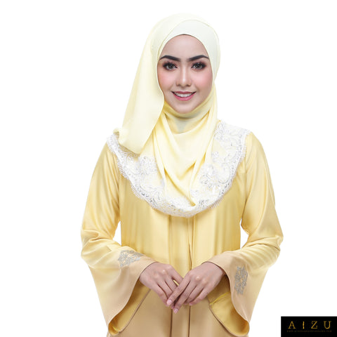 Zhalia Jubah | ZH-07 Golden Yellow
