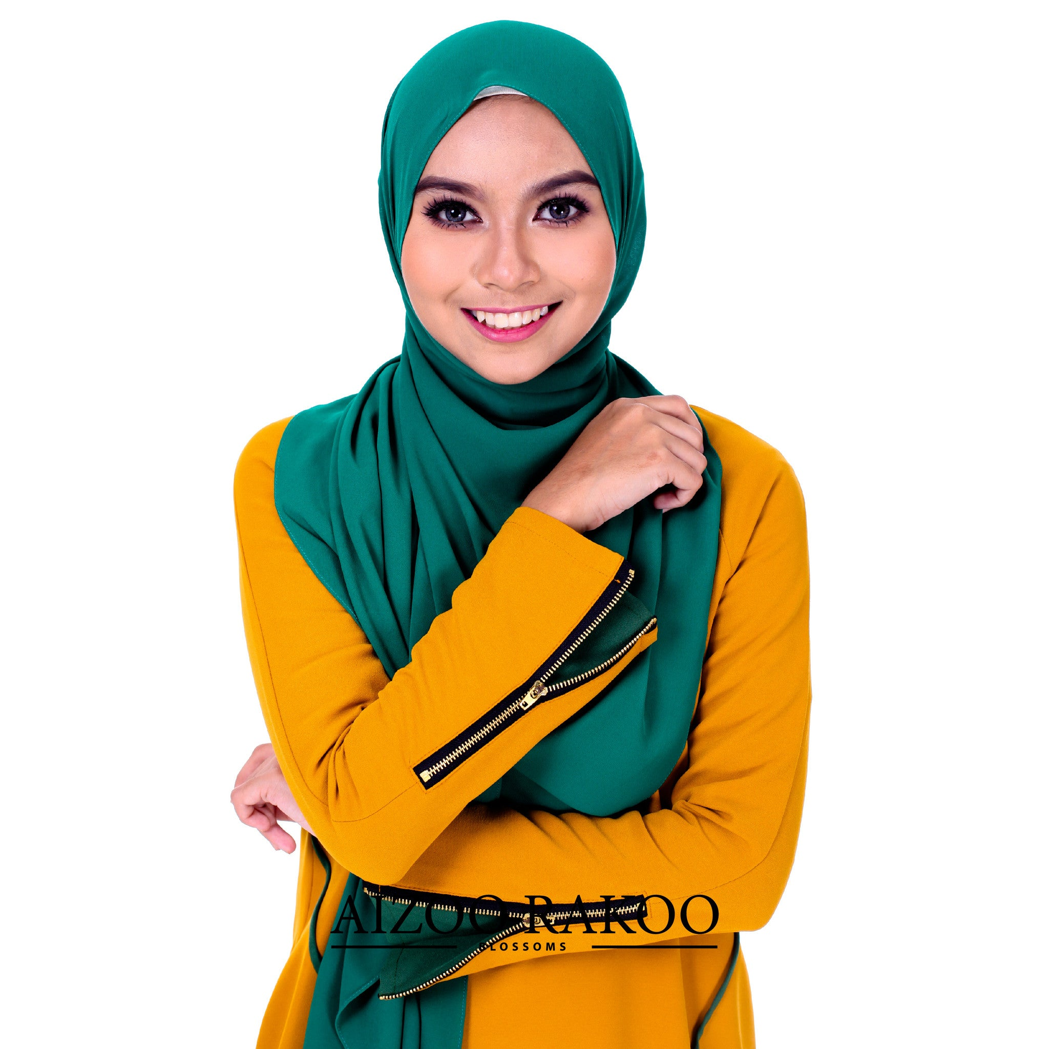 El-Zahraa Tunic | 05 Golden Mustard + Green