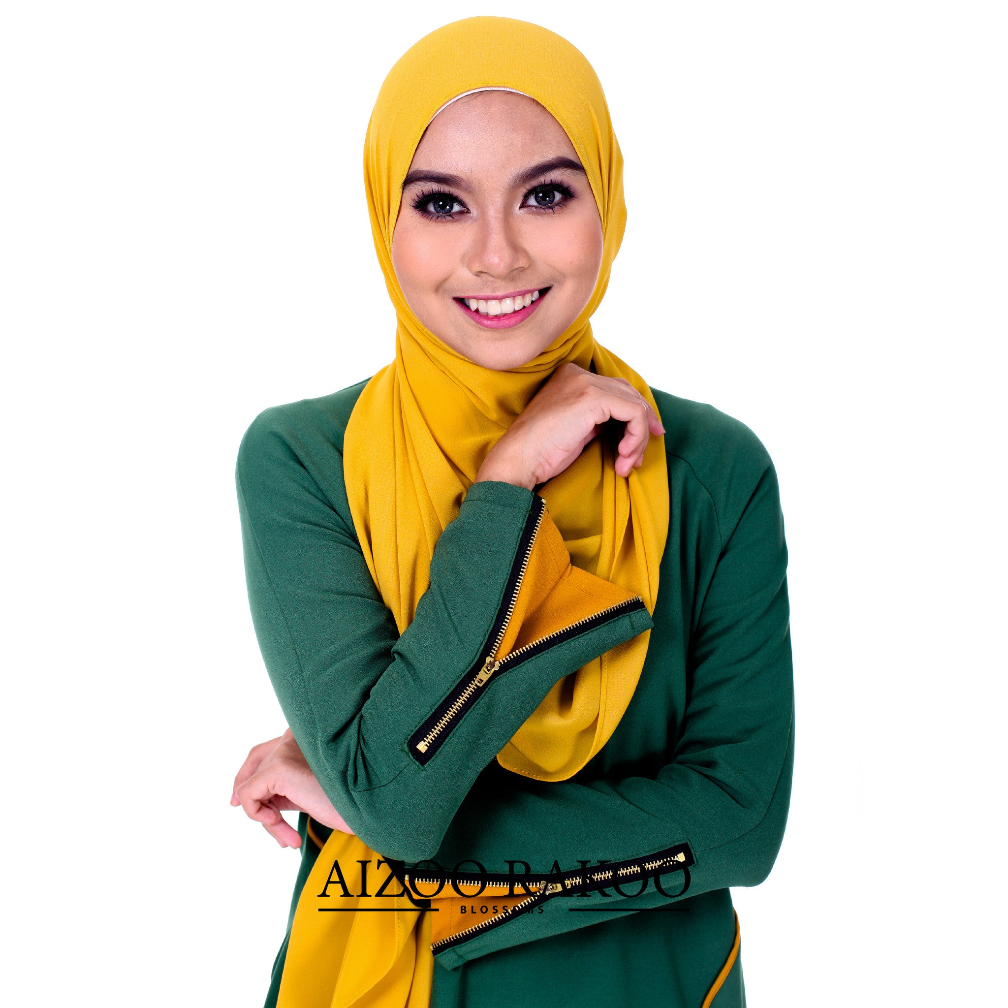 El-Zahraa Tunic | 06 Green + Golden Mustard