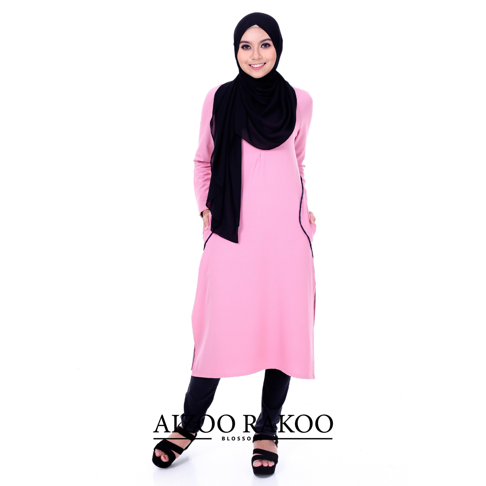 El-Zahraa Tunic | 11 Rosy Brown + Midnight Blue