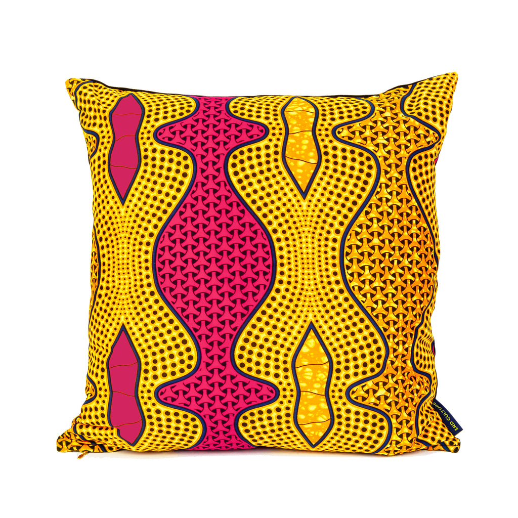 African Wax Cushion