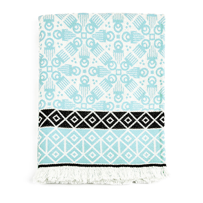 Aquamarine 'Duafe' Blanket