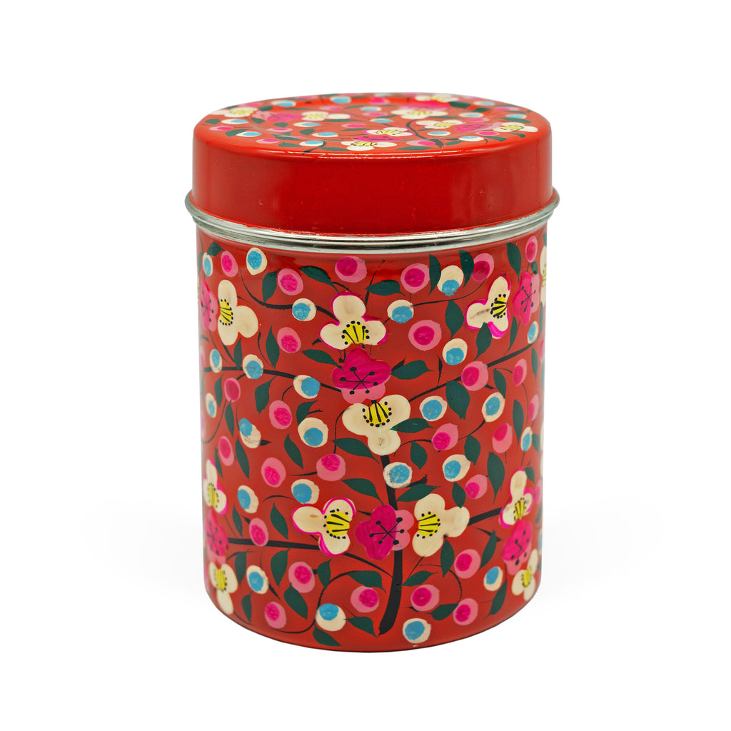 Red Floral Medium Box