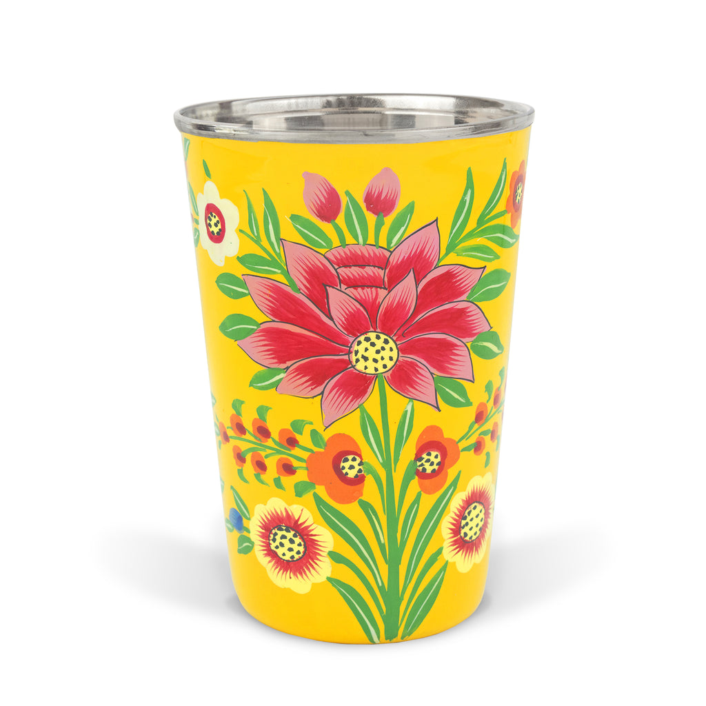 Yellow Lotus Tumbler