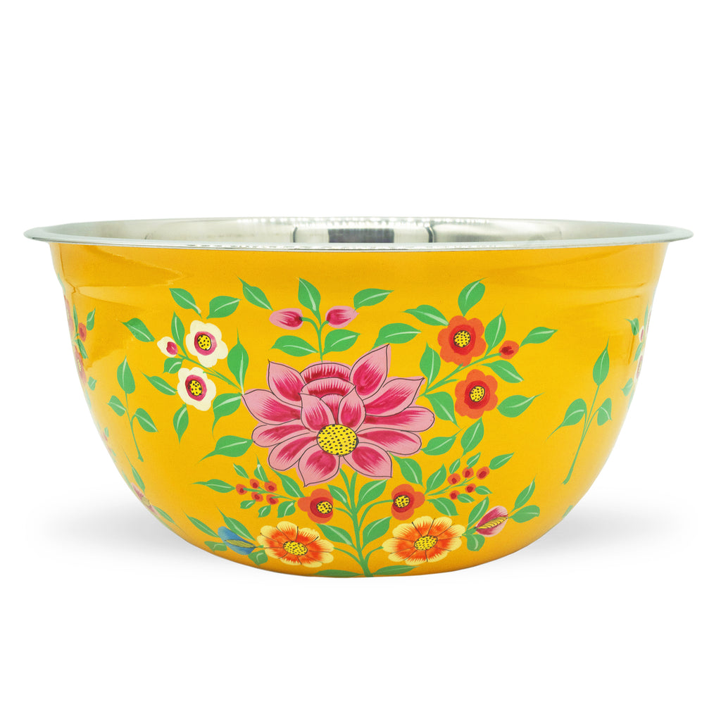 Large Yellow Lotus Bowl