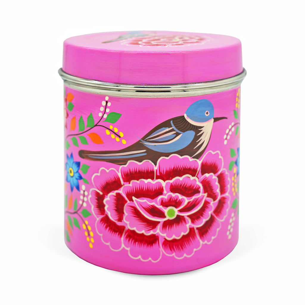 Pink Bird Large Tea Box