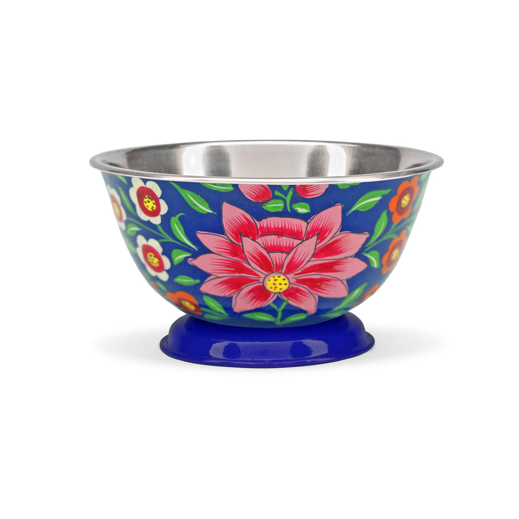 Small Navy Lotus Bowl
