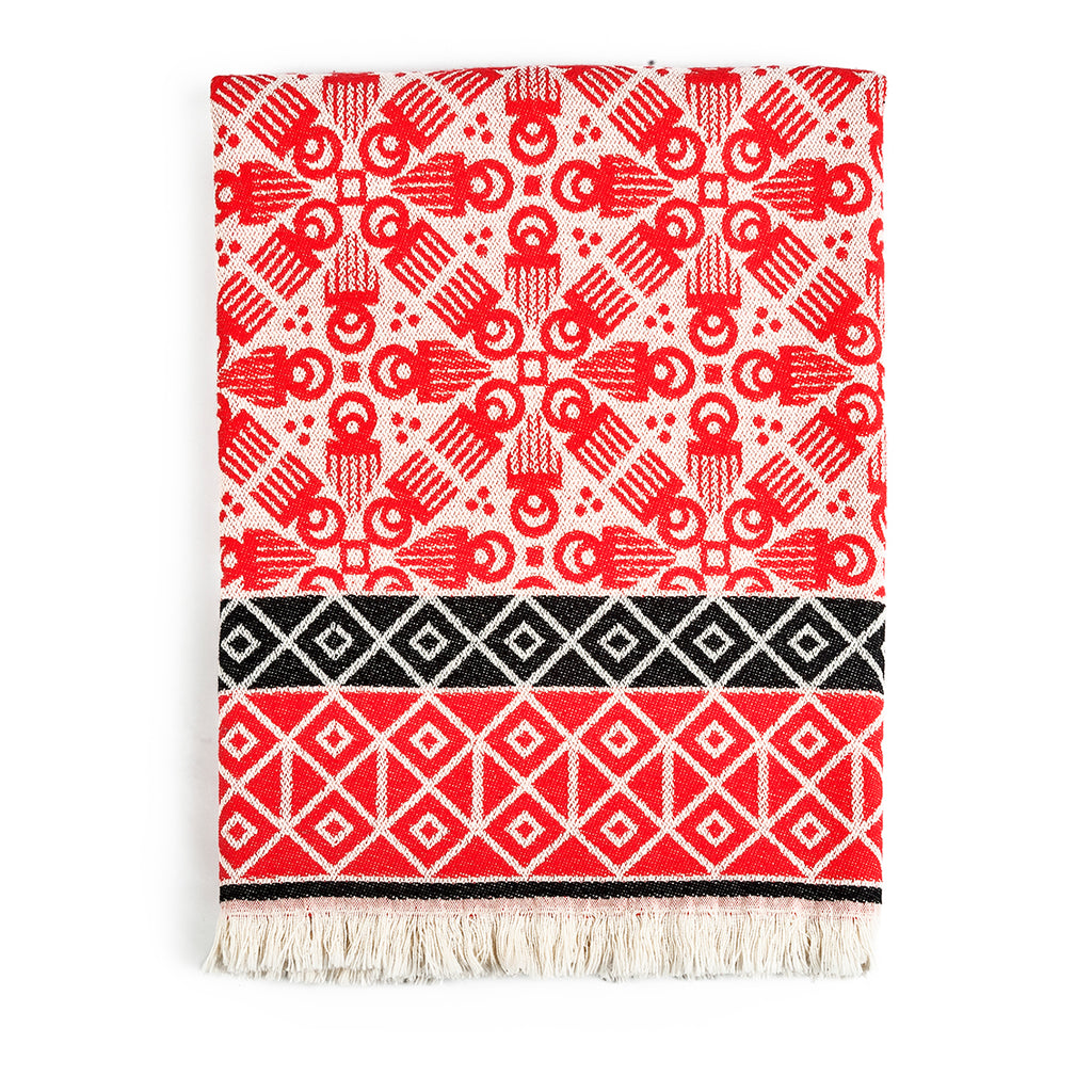 Red 'Duafe' Blanket