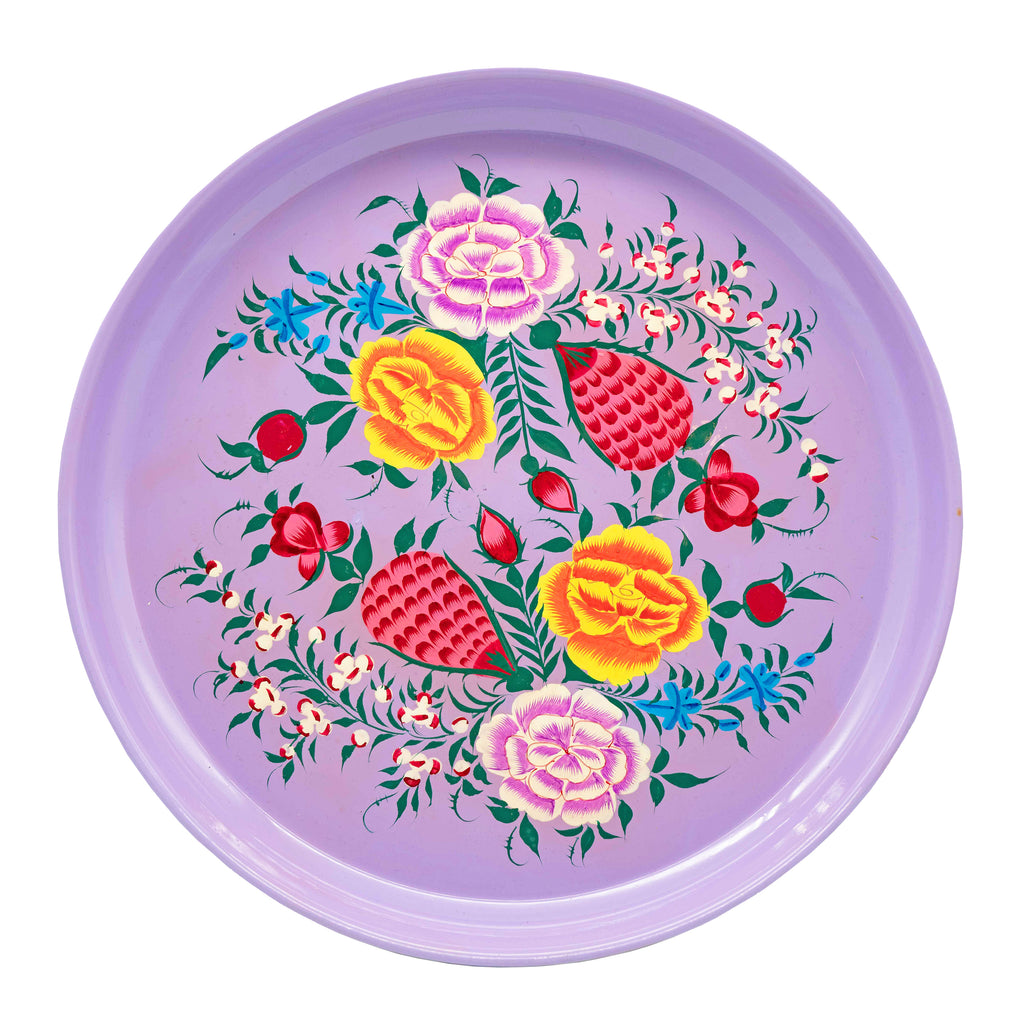 Lilac Round Tray