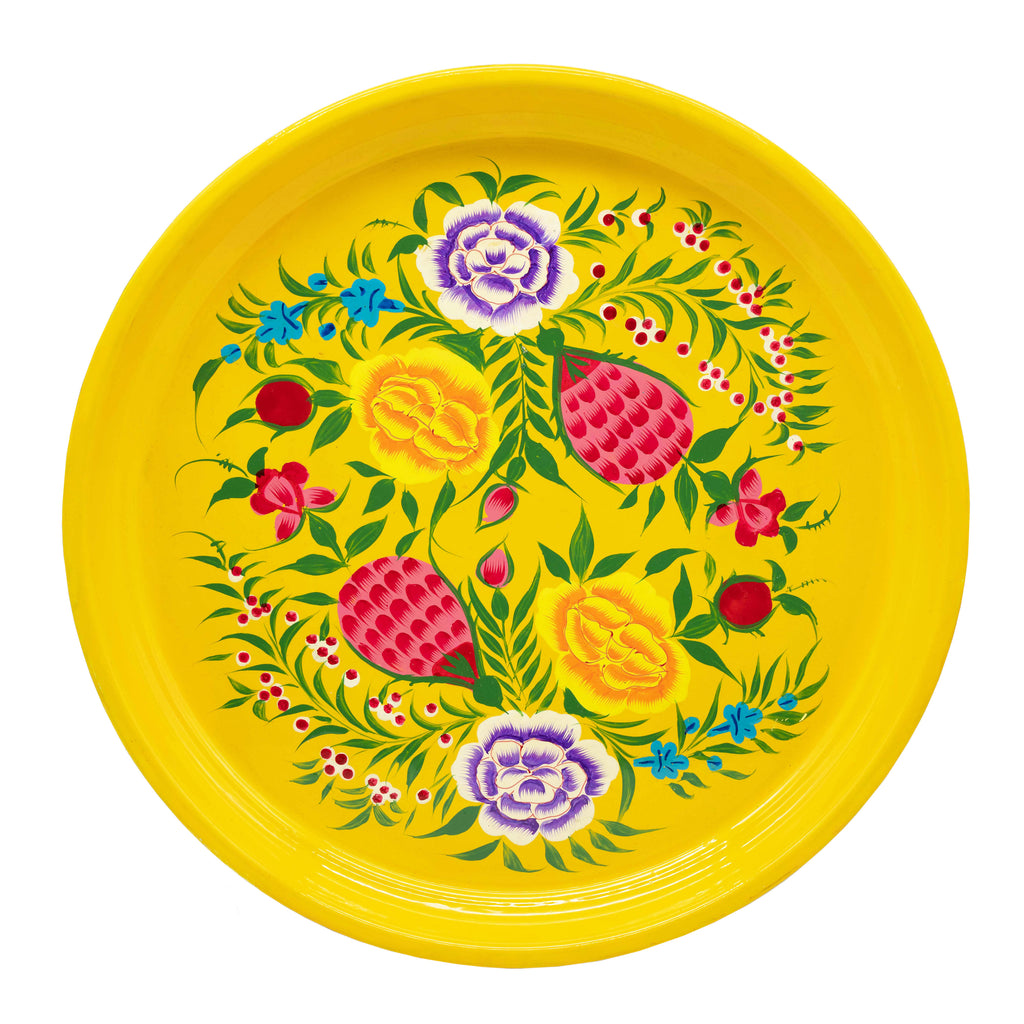 Yellow Round Tray
