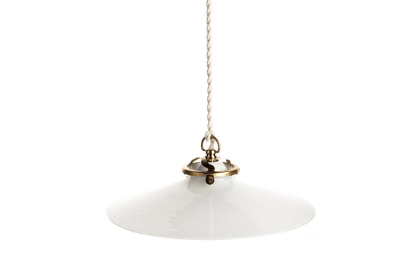 Suspension Billy Opaline Vintage Blanche Vanity Boum
