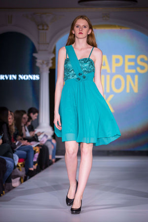 Emerald Green Dress - full length