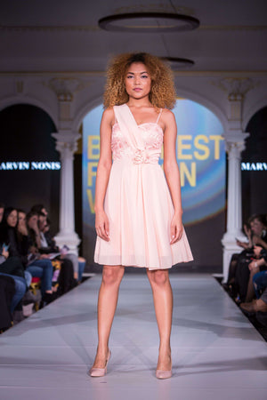 Pink Lemonade - Cocktail Dress- Full length 2