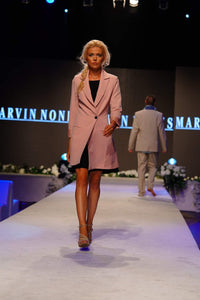 Marvin Nonis - Peach Coat with Black Dress
